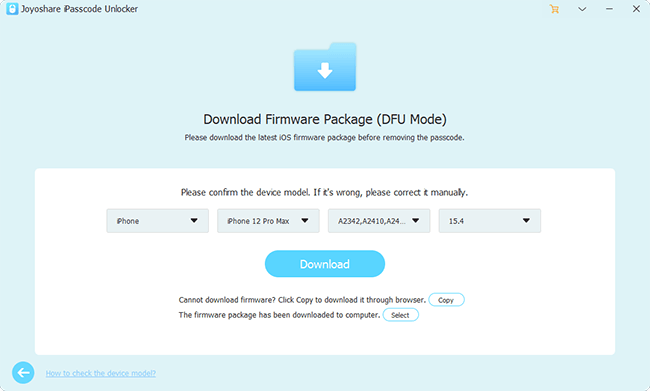 download verify firmware package win