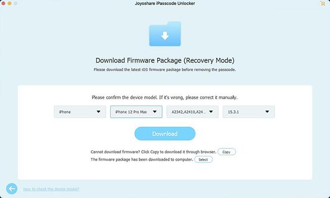 Joyoshare iPasscode Unlocker for Mac