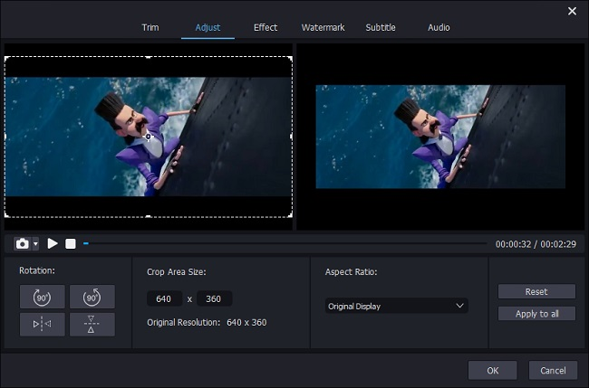 joyoshare media cutter edit interface
