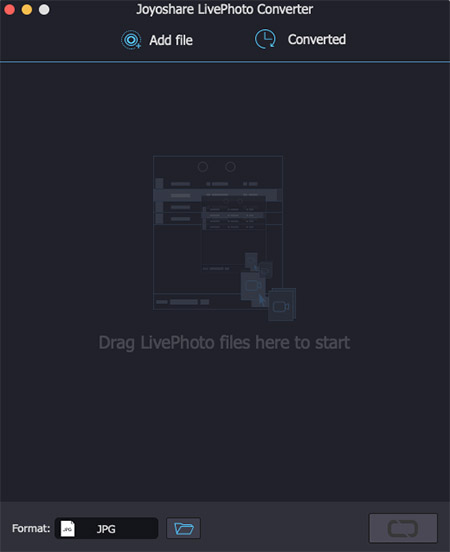 livephoto converter interface on mac