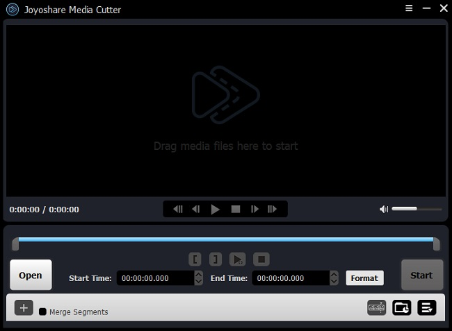 joyoshare media cutter main screen