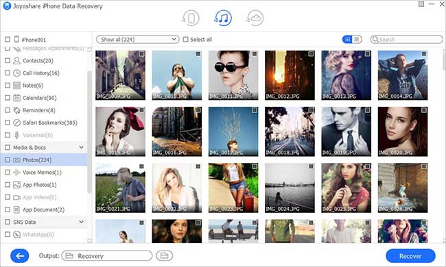 recover photos itunes win
