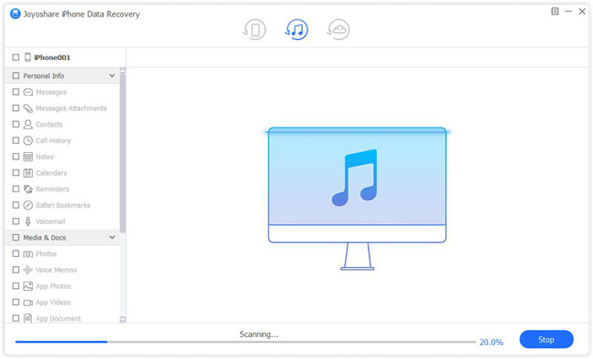 scan itunes backup file