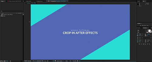 after effects crop interface