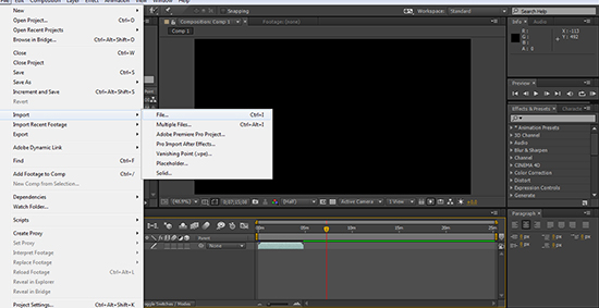 after effects import file