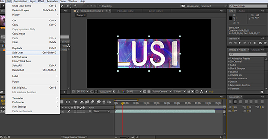 after effects split layer