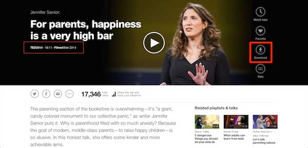download ted talks download button