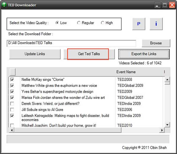 download ted talks ted downloader