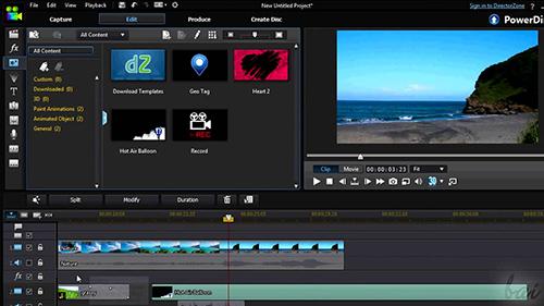 edit clips in powerdirector