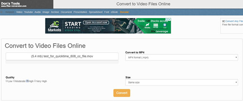 convert video to mp4 with files-conversion