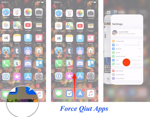 force app to quit