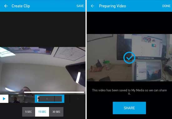 gopro trim and share feature