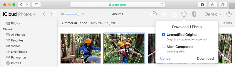 restore iphone photos from icloud photo library