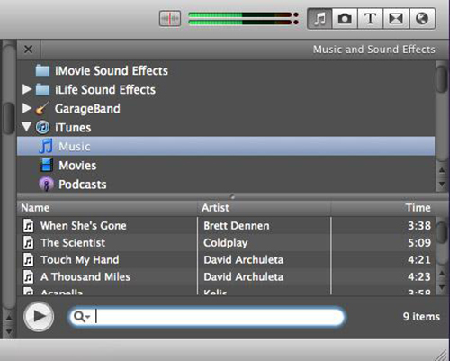 imovie add background music