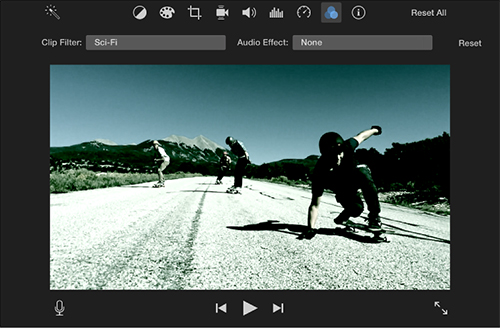 imovie apply video effect