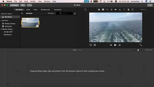 imovie drag video