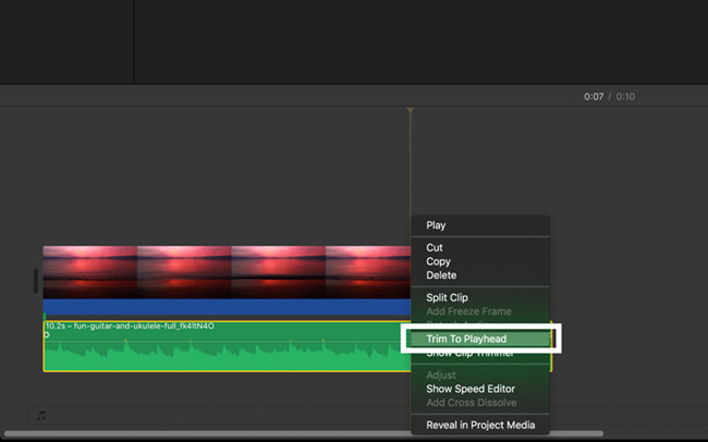 imovie trim music