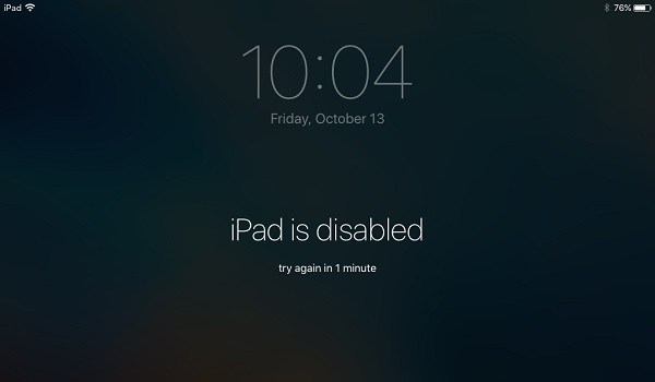 ipad disabled connect to itunes