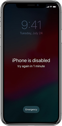 unlock disabled iphone