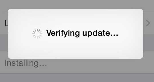 iphone verify update