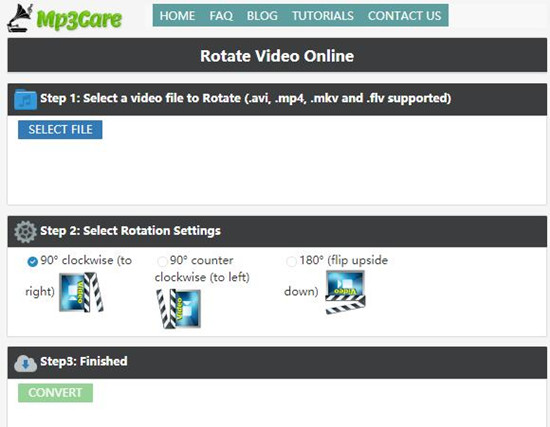 rotate video with mp3care