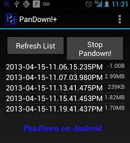 pandown on android