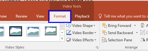 active powerpoint video tools format