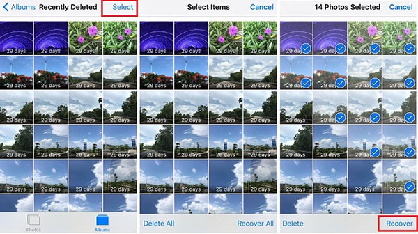 recover deleted live photos from recently deleted folder