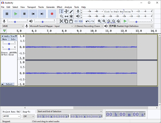 audacity record audio from computer