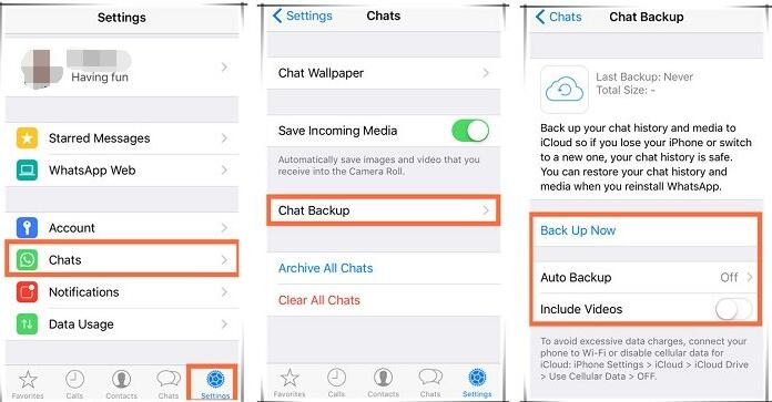 whatsapp message chat backup