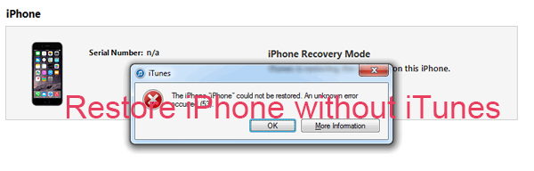 restore iphone without itunes