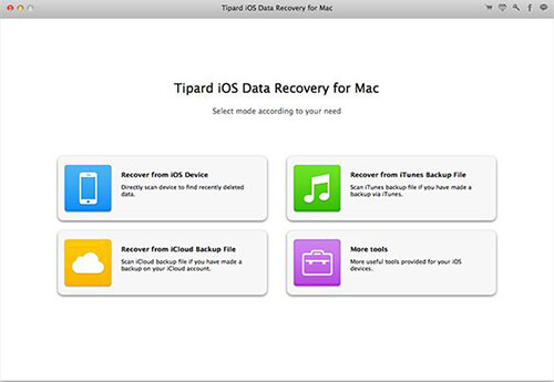 tipard ios data recovery mac