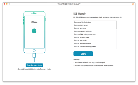 tuneskit ios system recovery
