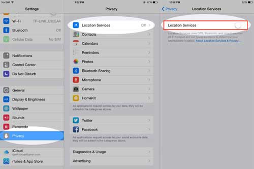 turn off location services wifi