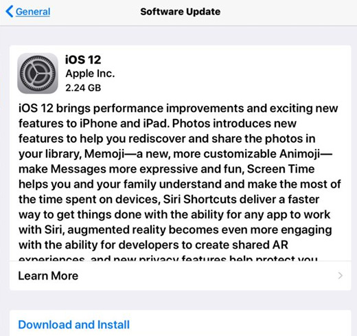 update iphone software