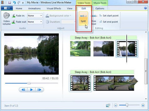 trim mp3 with windows movie maker
