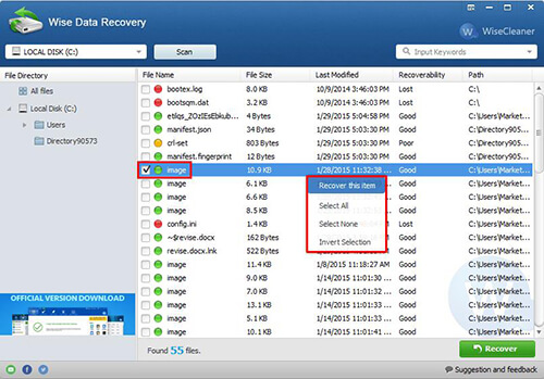 wise data recovery free