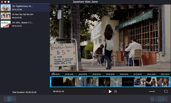 Joyoshare Video Joiner for Mac full screenshot