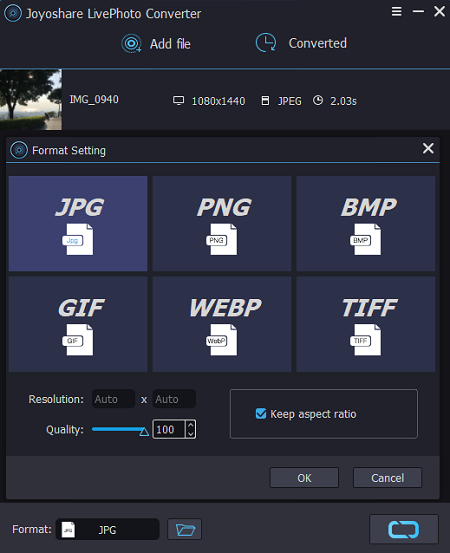 Joyoshare LivePhoto Converter for Windows