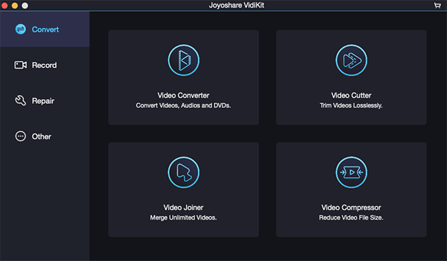 Joyoshare VidiKit for Mac