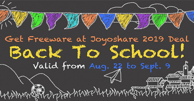joyoshare 2019 back to school deal
